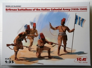 ICM 1/35 35567 ERITREAN BATTALIONS OF THE ITALIAN COLONIAL ARMY 1939-1940