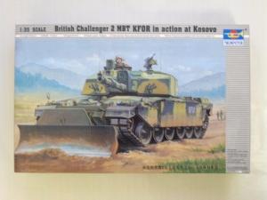TRUMPETER 1/35 00345 CHALLENGER 2 w/DOZER KFOR KOSOVO