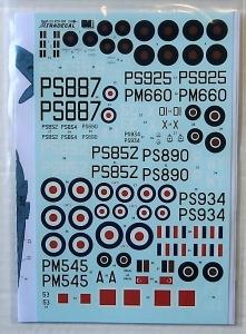 XTRADECAL 1/72 72105 SUPERMARINE SPITFIRE PR. Mk.XIX