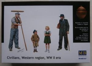 MASTERBOX 1/35 3567 CIVILIANS WESTERN REGION WWII ERA
