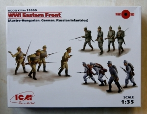 ICM 1/35 35690 WWI EASTERN FRONT AUSTRO-HUNGARIAN GERMAN RUSSIAN INFANTRIES