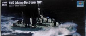 TRUMPETER 1/350 05331 HMS ESKIMO DESTROYER 1941