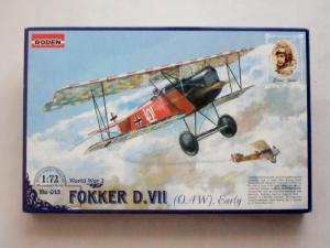 RODEN 1/72 013 FOKKER D.VII  OAW  EARLY