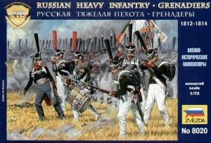 ZVEZDA 1/72 8020 RUSSIAN INFANTRY GRENADIERS 1812