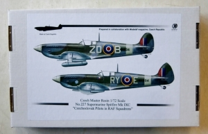 CZECH MASTER RESIN 1/72 227 SUPERMARINE SPITFIRE Mk IXC CZECHOSLOVAKS IN RAF