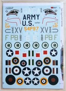 XTRADECAL 1/48 48163 EARLY CURTISS P40s PART2