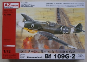 AZ MODEL 1/72 7466 MESSERSCHMITT Bf 109G-2 EARLY GUSTAV