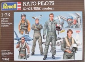 REVELL 1/72 02402 NATO PILOTS  D/GB/USA  MODERN