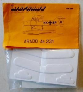 AIRFRAME 1/72 ARADO Ar 231