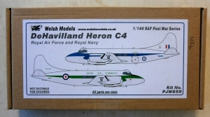 WELSH MODELS 1/144 PJW85R DeHAVILLAND HERON C4 RAF   RN