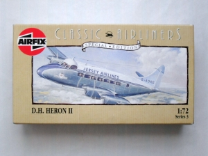 AIRFIX 1/72 03001 D.H.HERON II  JERSEY AIRLINES