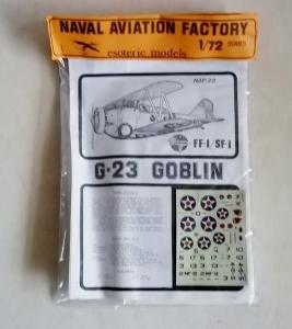 ESOTERIC 1/72 NAF-22 GRUMMAN FF-1/SF-1 G-23 GOBLIN