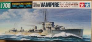 TAMIYA 1/700 31910 AUSTRALIAN DESTROYER VAMPIRE