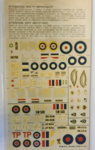 ESCI 1/72 1058. SUPERMARINE SPITFIRE AND HAWKER TYPHOON VARIENTS NARVIS IF FATE THE VIRGIN