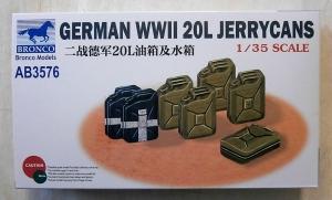 BRONCO 1/35 3576 GERMAN WWII 20L JERRYCANS