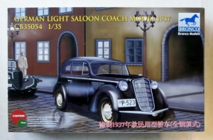 BRONCO 1/35 35054 GERMAN LIGHT SALOON COACH MODEL 1937