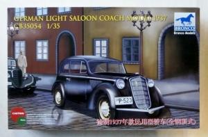 BRONCO 1/35 35054 GERMAN LIGHT SALOON COACH MODEL 1937
