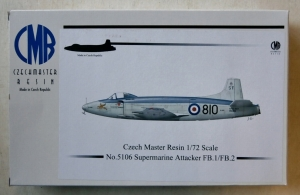 CZECH MASTER RESIN 1/72 5106 SUPERMARINE ATTACKER FB.1/FB.2