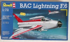 REVELL 1/72 04301 BAC LIGHTNING F.6