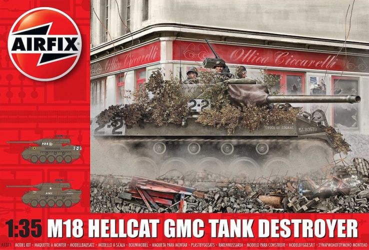 AIRFIX 1/35 1371 M18 HELLCAT GMC TANK DESTROYER