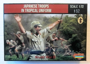 STRELETS 1/72 M114 JAPANESE TROOPS IN TROPICAL UNIFORM WWII