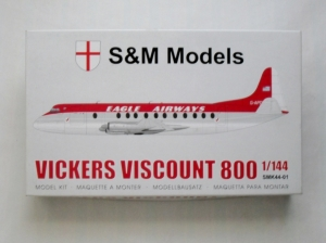 S M MODELS 1/144 SMK44-01 VICKERS VISCOUNT 800 EAGLE AIRWAYS