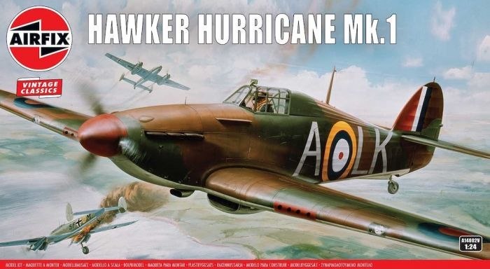 AIRFIX 1/24 14002V VINTAGE CLASSICS - HAWKER HURRICANE MK.1  UK SALE ONLY