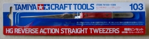 TAMIYA  74103 HG REVERSE ACTION STRAIGHT TWEEZERS