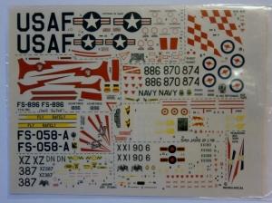 MODELDECAL 1/72 238. F-84G THUNDERJET USAF HAWK T1 JAGUAR GR1 A-4G SKYHAWK