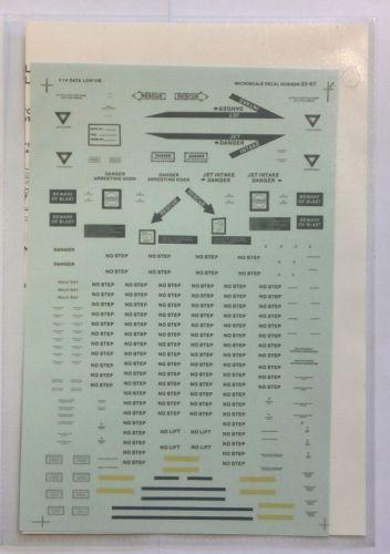 MICROSCALE 1/32 1493. 3267 F-14 DATA LOW VIS