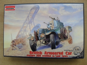 RODEN 1/35 802 BRITISH ARMOURED CAR PATTERN 1920 MODIFIED WITH SAND TYRES