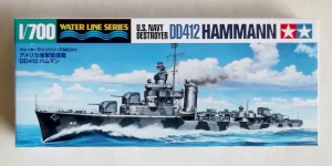 TAMIYA 1/700 31911 US NAVY DESTROYER DD-412 HAMMANN