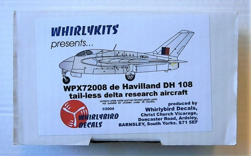 WHIRLYBIRD 1/72 72008 DE HAVILLAND DH 108