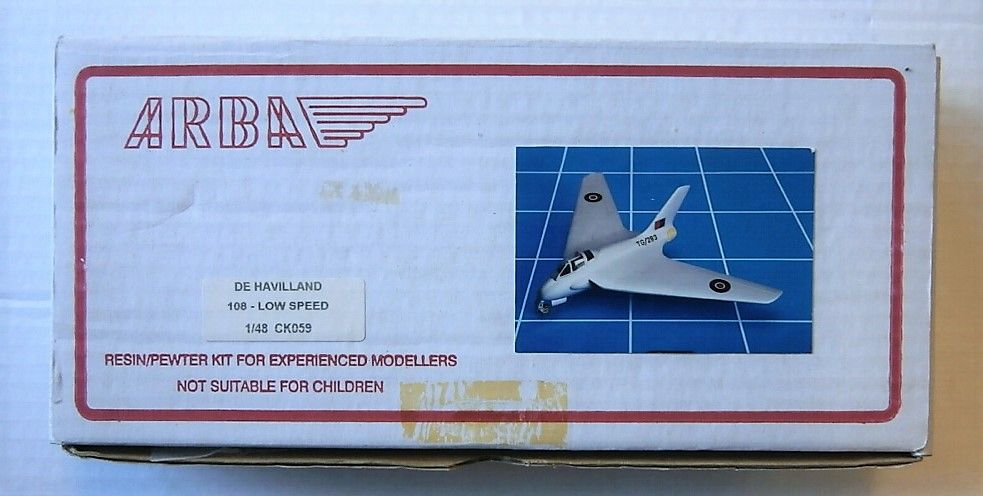 ARBA 1/48 DE HAVILLAND 108 LOW SPEED