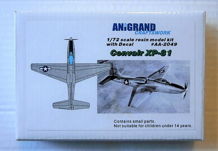 ANIGRAND 1/72 2049 CONVAIR XP-81