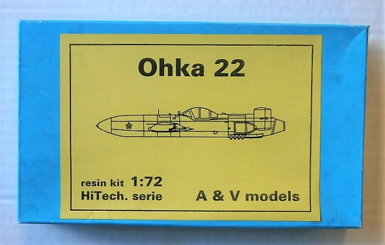 A   V MODELS 1/72 OHKA 22