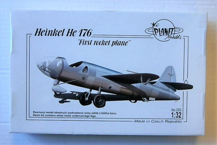 PLANET MODELS 1/32 203 HEINKEL He 176 FIRST ROCKET PLANE