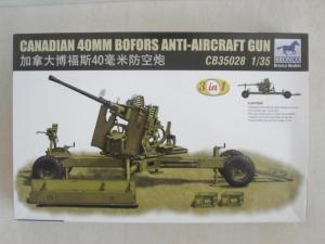 BRONCO 1/35 35028 CANADIAN 40mm BOFORS ANTI-AIRCRAFT GUN