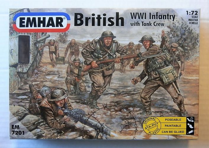 EMHAR 1/72 7201 WWI BRITISH INFANTRY WITH TANK CREW