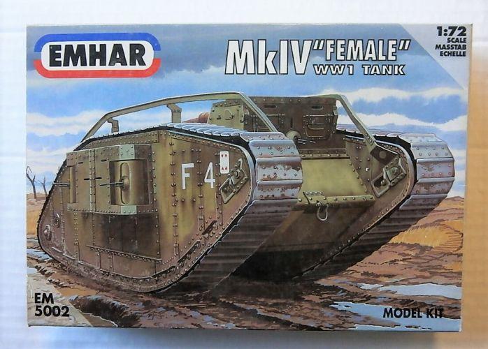 EMHAR 1/72 5002 Mk IV FEMALE WWI TANK