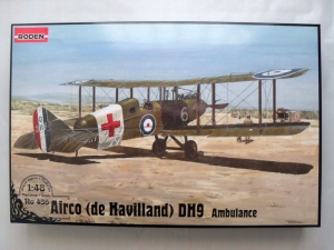 RODEN 1/48 436 AIRCO  de HAVILLAND  D.H.9 AMBULANCE