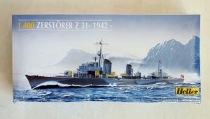 HELLER 1/400 81010 ZERSTORER Z31 1942