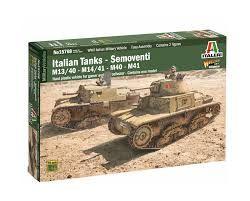 ITALERI 1/56 15768 ITALIAN TANKS SEMOVENTI M13/40 M14/41 M40 M41