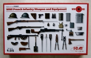 ICM 1/35 35681 WWI FRENCH INFANTRY WEAPONS   EQUIPMENT