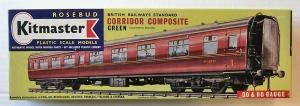 KITMASTER ROSEBUD HO/OO 13 BRITISH RAILWAYS STANDARD CORRIDOR COMPOSITE GREEN  SOUTHERN REGION