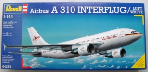 REVELL 1/144 04254 AIRBUS A310 INTERFLUG/LUFTWAFFE
