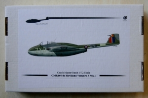 CZECH MASTER RESIN 1/72 166 DE HAVILLAND VAMPIRE F Mk I