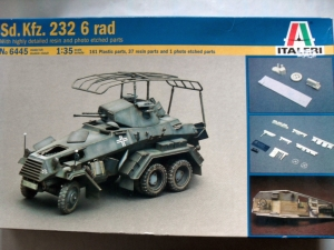 ITALERI 1/35 6445 Sd.Kfz.232 6 RAD WITH RESIN