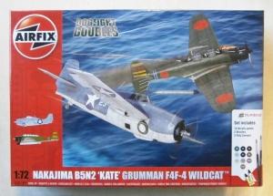 AIRFIX 1/72 50169 DOGFIGHT DOUBLES NAKAJIMA B5N2 KATE   GRUMMAN F4F-4 WILDCAT