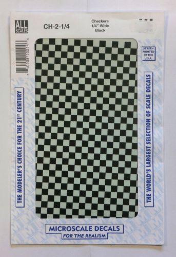 MICROSCALE  1495. CHECKERS QUARTER INCH WIDE BLACK